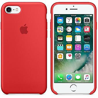 In its original packaging Apple silicone Micro Fiber cover case for iPhone 8 / 7 - Red