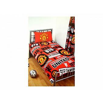 Manchester United FC virallinen jalkapallo Patch yhden pussilakanat ja tyyny asettaa