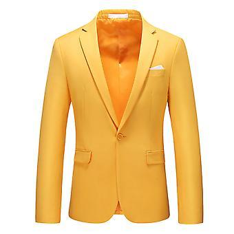 Allthemen męska marynarka Business Casual Slim Fit kolor kurtka