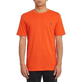 Volcom Stein Blanks Kurzarm T-Shirt in Pfefferrot