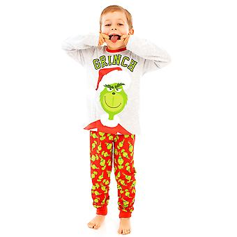 The Grinch Children's Boy's Long Pyjamas Set Nightwear Sleepwear