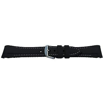 Rubber watch strap made by w&cp to fit rolex gmt oyster & omega seamaster black/grey stitched 20mm