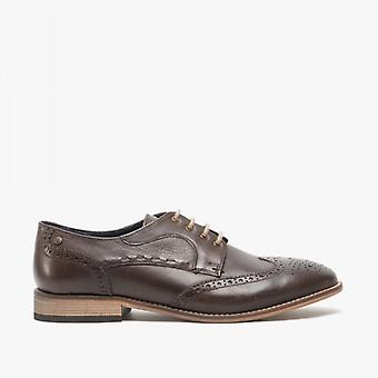 Base London Kitchin Menns Skinn Brogue Sko Brown