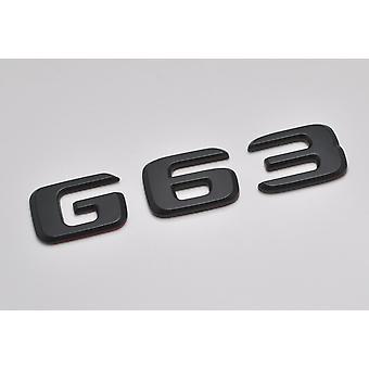 Matt Black G63 Flat Mercedes Benz Car Model Numbers Letters Badge Emblem For G Wagen 460 461 463 AMG