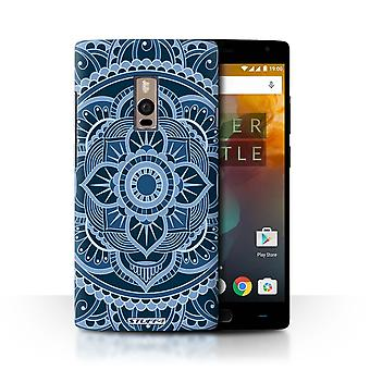 STUFF4 Case/Cover for OnePlus 2/Two/Floral/Blue/Mandala Art