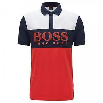مدرب الأخضر هوغو بوس بافل الأحمر panelled شعار بولو 50424764