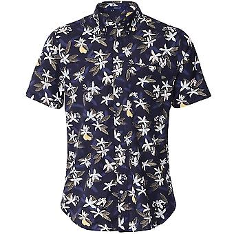 GANT Regular Fit Kurzarm Zitrone Blume Shirt