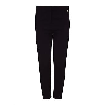 PERFECT FIT  Black Cropped Bengaline Trouser