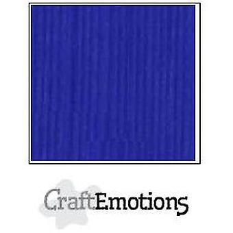 CraftEmotions linen cardboard 100 Sh cobalt blue Bulk LC-55 30,5x30,5cm 250gr