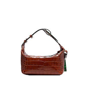 Ganni A2304132 Women's Brown Leather Shoulder Bag