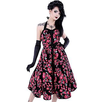 Restyle - roses dress - halter neck - multicoloured