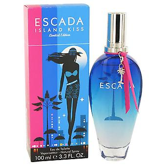Island Kiss Eau De Toilette Spray av Escada 3,4 oz Eau De Toilette Spray
