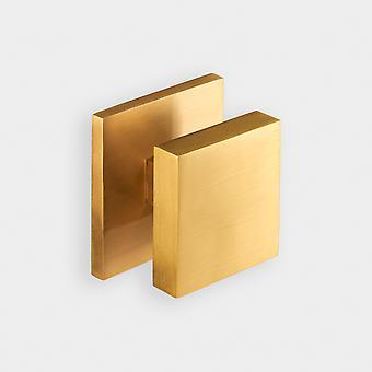 Perilla de la puerta central de latón - oro - cuadrado