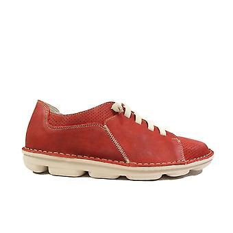 On Foot Basket Sport 7020 Red Nubuck Leather Mens Slip On Shoes