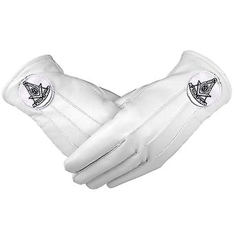 Masonic regalia white soft leather gloves past master