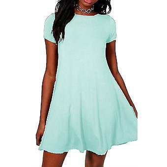 Ladies Short Sleeve Skater Dress