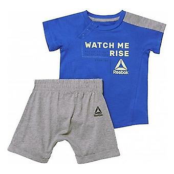 Baby's Tracksuit Reebok B ES Inf SJ SS Blue Grey/9 Meses
