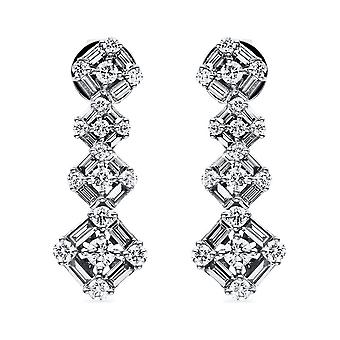 Diamond stud earrings stud earrings - 18K 750/- white gold - 1.99 ct. - 2E010W8-2