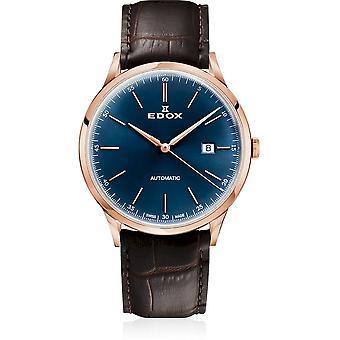 Edox - Wristwatch - Men - Les Vauberts - Automatic Date - 80106 37RC BUIR