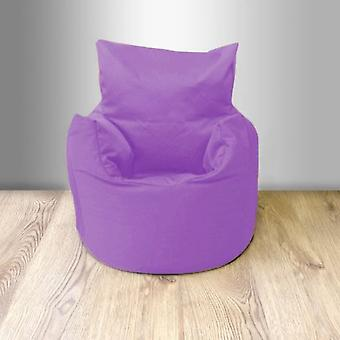 Ready Steady Bed Children's 100% Cotton Twill Pre-Filled Bean Chair, Purple