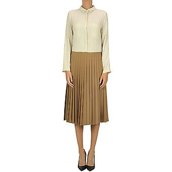 Semi-couture Ezgl426014 Women's Beige Polyester Dress