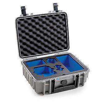 B&W Tipo di custodia GoPro 1000 per GoPro Hero 8, grigio con inserto in schiuma