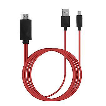 Voor Samsung Galaxy Tab Pro 8.4 MHL Micro USB naar HDMI 1080P HD TV-kabeladapter