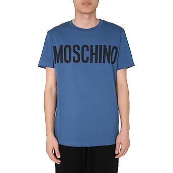 Moschino 070570401310 Men's Blue Cotton T-shirt