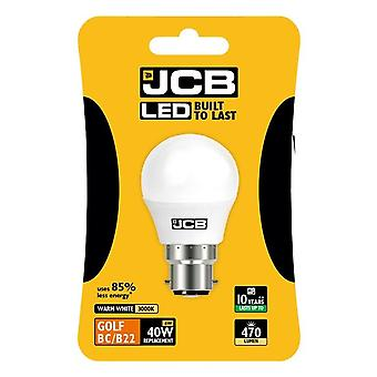 JCB LED Golf 470lm Opal 6w Light Bulb B22 2700k