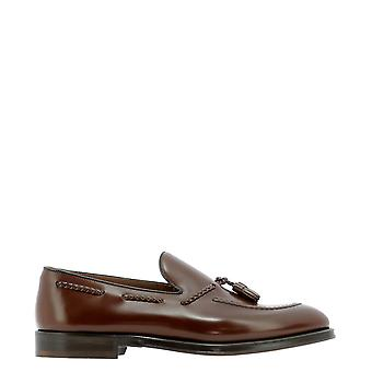 Doucal's Du10200rviuy007mm24 Men's Brown Leather Loafers