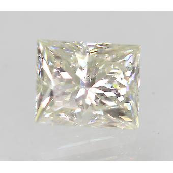 Certified 0.62 Carat H VVS2 Princess Enhanced Natural Diamond 5.02x4.07mm 2VG