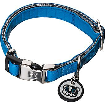 Karl Lagerfeld Pets Dogs Collar in Soft Leather, Adjustable,Upholstery, Weatherproof, Tearproof, Water Repellent