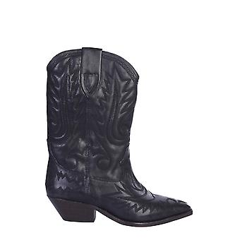 Isabel Marant ÉToile Bo044820p024s01bk Women's Black Leather Enkellaarsjes