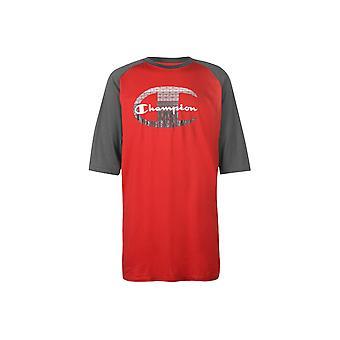 Campione Raglan Sleeve T Camicia Uomo