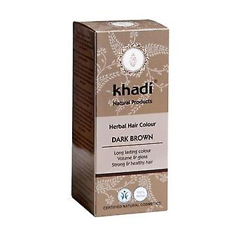 Herbal Color Vegetable Hair Dye 500 g of powder (Dark Brown)
