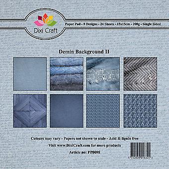 Dixi Craft Denim Tausta II 15x15 cm Paperityyny