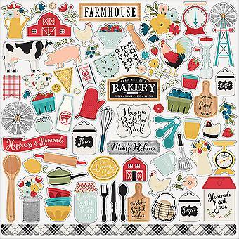 Echo Park Bauernhaus Küche 12 x 12 Zoll Element Aufkleber