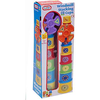 Purple Windmill Stacking Cups