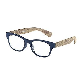 Lesebrille Unisex  Holz blau/braun Festigkeit +1,50 (le-0166B)