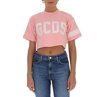 Gcds Cc94w02100506 Women's Pink Cotton T-shirt