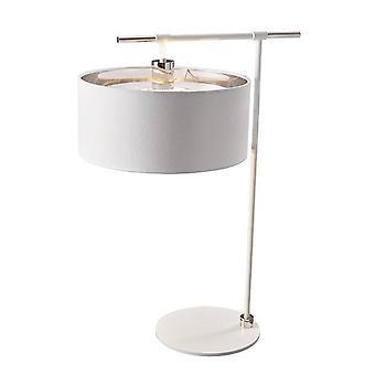 1 Leuchttischleuchte Weiß, poliertes Nickel, E27