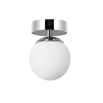 Forlight Petit - Baño LED Flush Globo Luz de techo Cromo 650lm 3000K IP44