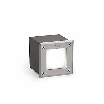 LED Square Recessed Outdoor Ground Light Matt Nickel IP67
