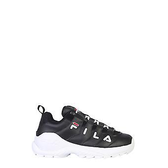 Fila 101075125y Women's Black Leather Sneakers