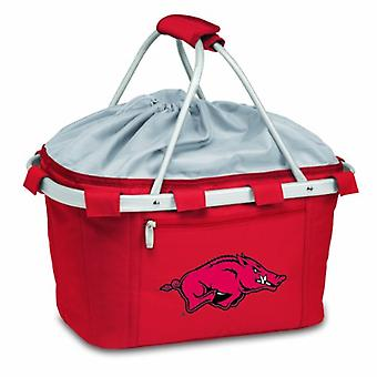 Arkansas Razorbacks - Metro Basket Collapsible Tote By Picnic Time (Red)