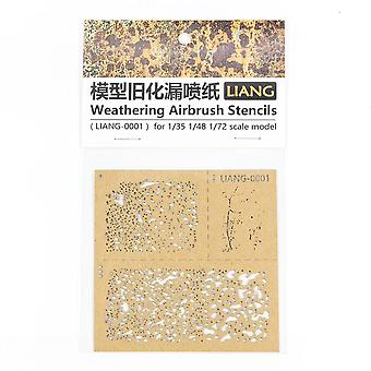 Diy Spray Paper Weathering Airbrush Stencils Tools For 1/35 1/48 1/72 Scale