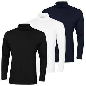 Proquip Mens 2020 Solano Cotton Roll Neck Plain Soft Comfort Baselayer