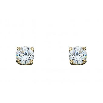 Elements Gold 9ct April Cubic Zirconia 4mm Stud Earrings GE2329