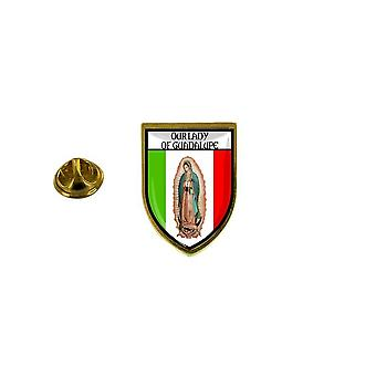 pine pine badge pine pin-apos;s souvenir stad vlag land wapenschild dame guadelupe guadalupe