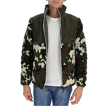 Moncler 8g605809jz830 Men's Camouflage Acrylic Outerwear Jacket